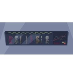 Stock Exchange Index Monitoring Concept vector image
