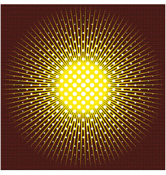 the sun executed in technics of a halftone on vector image vector image