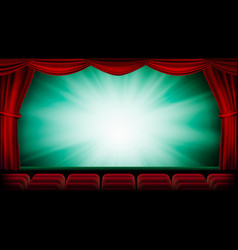 theater curtain theater opera or cinema vector image