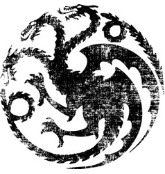 three head dragon monster vector image