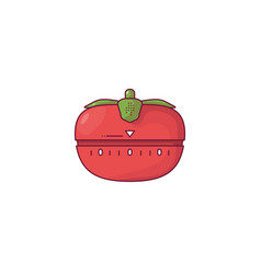 Tomato kitchen timer vector