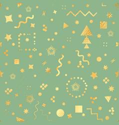 trendy geometric elements memphis card seamless vector image