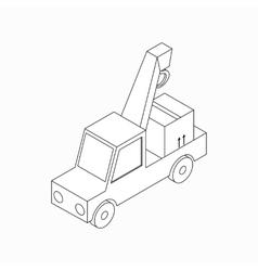 Truck crane icon isometric 3d style vector image