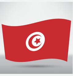 Tunisian flag icon vector