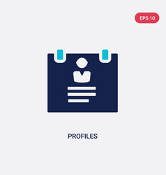 Two color profiles icon from human resources vector