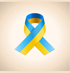 Ukrainian Flag in the Ribbon vector