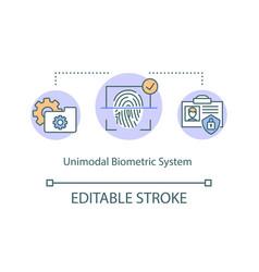 Unimodal biometric system concept icon vector