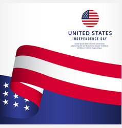 United states independence day template design vector