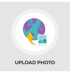 Upload photo flat icon vector