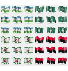 Uzbekistan Macau Ingushetia UPA Set of 36 flags of vector