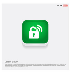 wifi locked signs green web button vector image