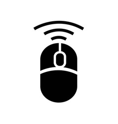wireless mouse tool icon icon simple element vector image