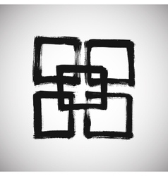 Grunge Square Logo vector image