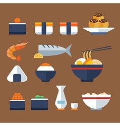 japan food flat icon vector image