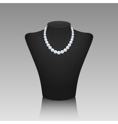Pearl necklace on a rack vector image