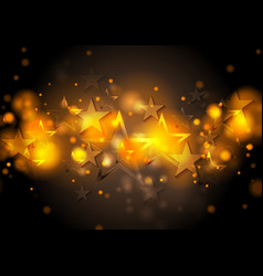 Abstract shiny stars background vector image vector image