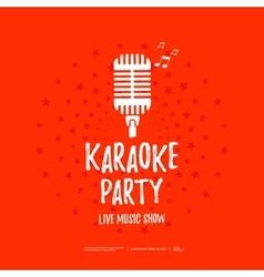 Karaoke party banner vector image