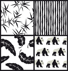 Set of japanese patterns vector image vector image