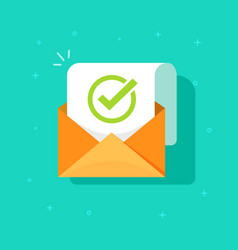 email confirmation flat vector image vector image