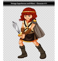 Female viking vector image