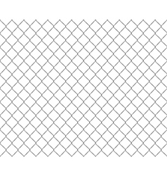 Old metal mesh steel fence seamless vector image vector image