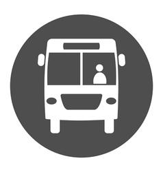 bus round icon vector image