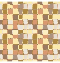 Geometric mosaic seamless pattern Checked vector image vector image