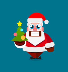 Santa claus on white background for vector