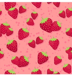 Strawberry Seamless Pattern Pink3 vector image vector image
