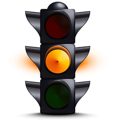 Traffic light on yellow vector image