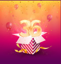 36 th years anniversary design element vector image