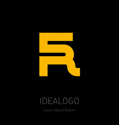 5 and r logo 5r - design element or icon monogram vector image