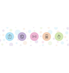 5 bell icons vector