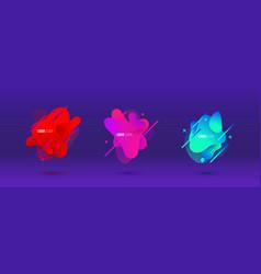 abstract design set liquid shapes fluid vector image