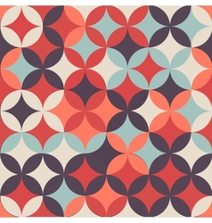 Abstract retro geometric seamless pattern with vector