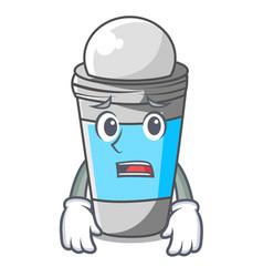 Afraid deodorant rolls on in character bags vector