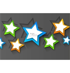 Background with colorful stars vector image vector image