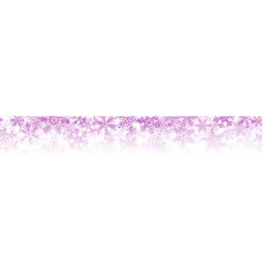 banner of many layers of snowflakes vector image