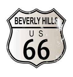 Beverly hills route 66 vector