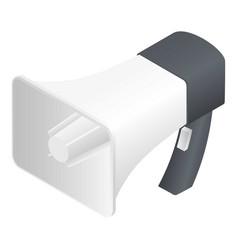 big hand speaker icon isometric style vector image