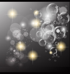 bubble sparkle background vector image