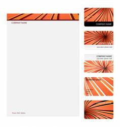 business cards template vector image