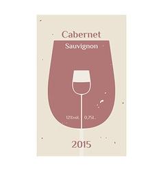 Cabernet Sauvignon label 2 vector