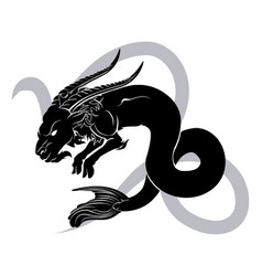 Capricorn zodiac horoscope astrology sign vector