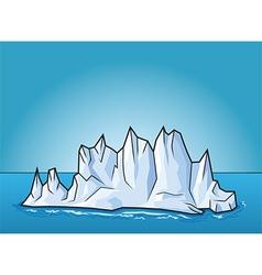 Cartoon ice berg vector