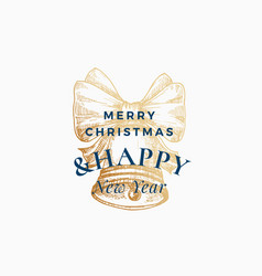 christmas abstract retro label sign vector image