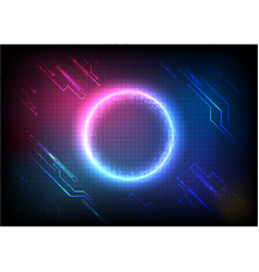 color pixel digital futuristic technology vector image