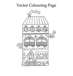 Colouring page with a house vector
