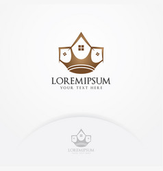 crown house logo design vector image