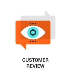 Customer review icon vector